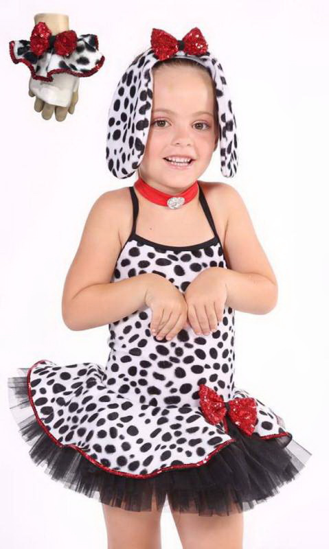 DALMATION + Gloves and Ears Dance Costume