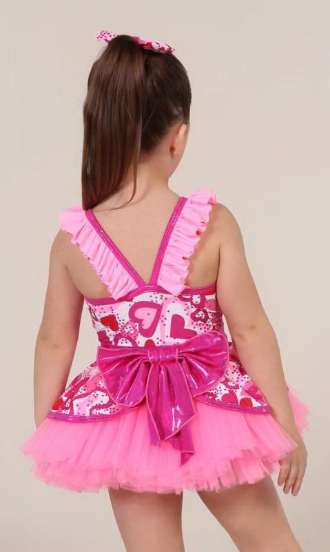 STUPID CUPID + 2 hair bows - Pink