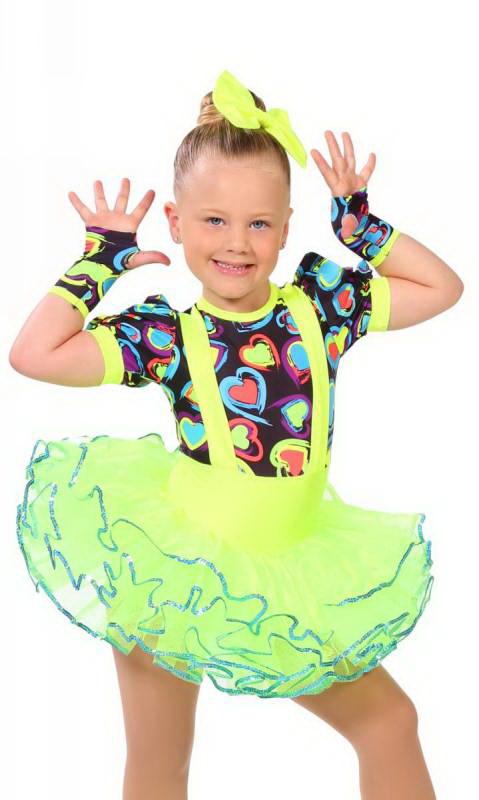 HEART THROB + gloves and hair bow Dance Costume
