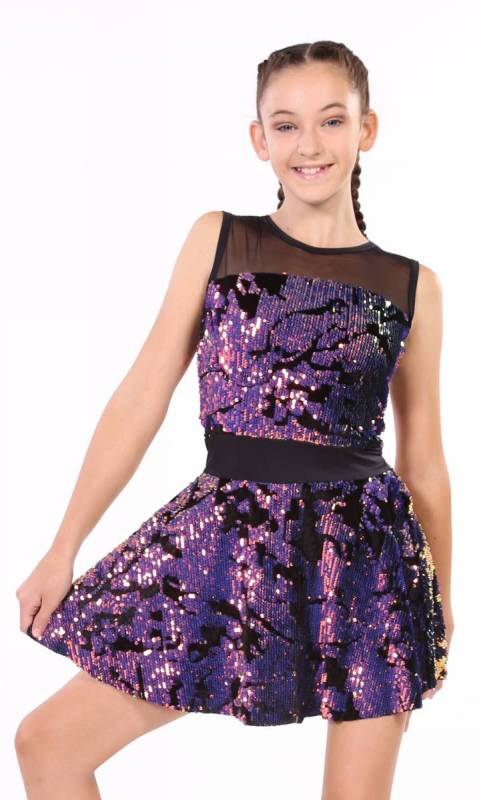 ELYSE DRESS  - SEQUIN VELVET + BLACK