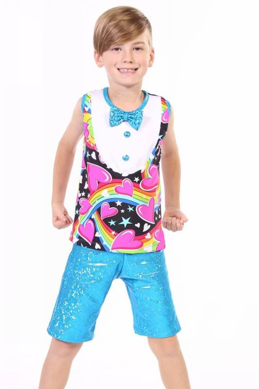MUSCLE TOP + BOW TIE - BOYS top only Dance Costume