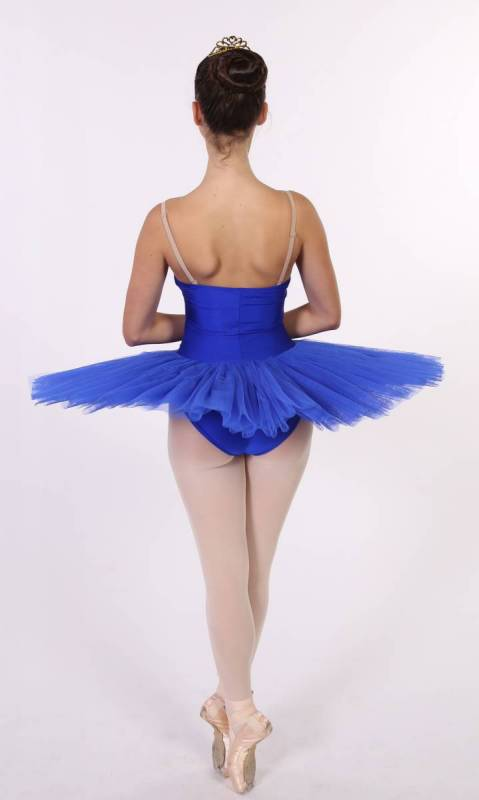 PANCAKE TUTU -  UNDECORATED  - Royal Blue