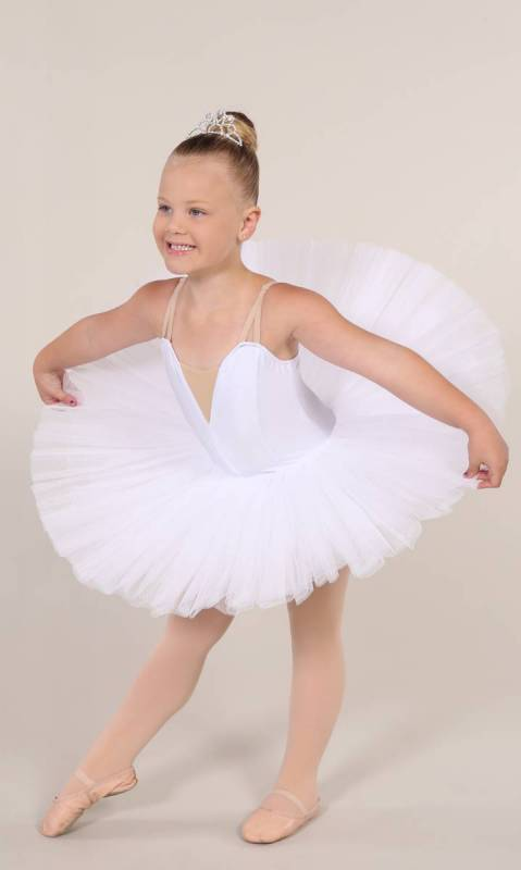 PANCAKE TUTU -  UNDECORATED  - White