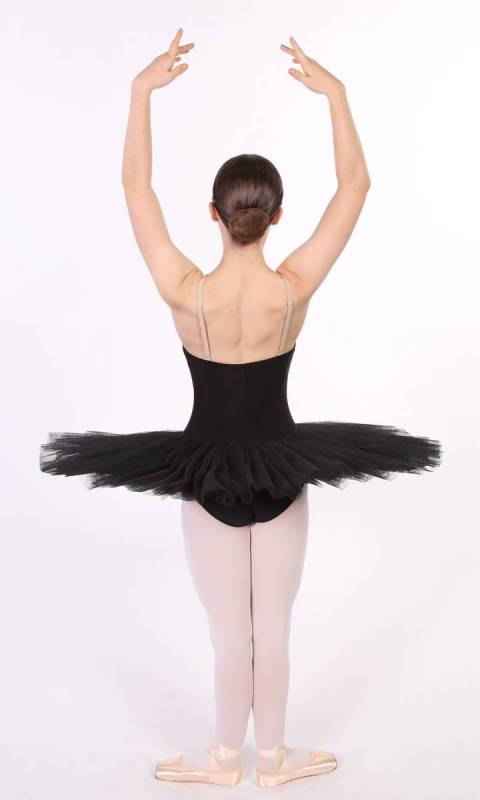 PANCAKE TUTU -  UNDECORATED  - Black