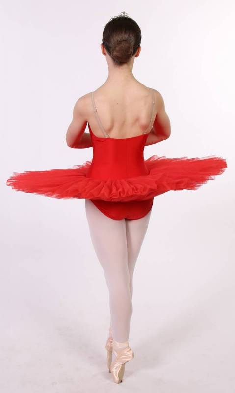 PANCAKE TUTU -  UNDECORATED  - Red