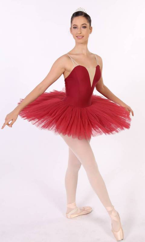 PANCAKE TUTU -  UNDECORATED  - Burgundy