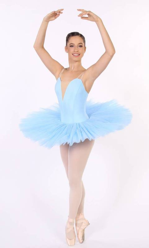 PANCAKE TUTU -  UNDECORATED  - Pastel Blue