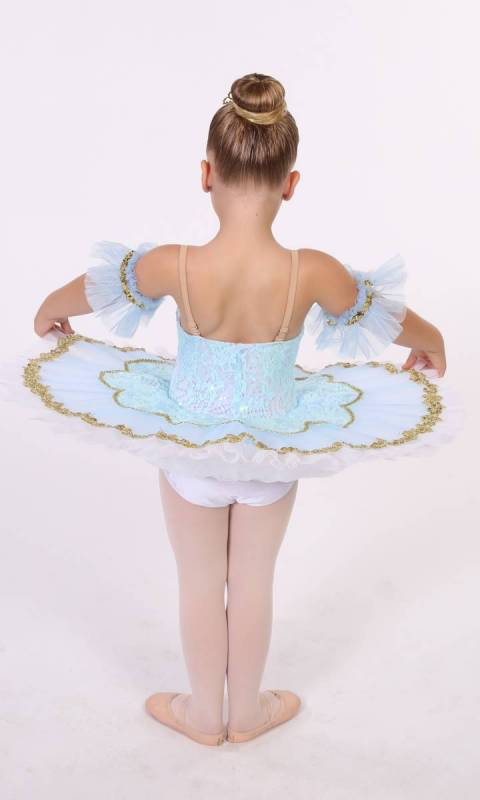 Tilleeya - tutu  - White, Pale blue and gold