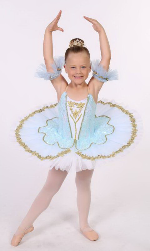 Tilleeya - tutu  - White, Pale blue and gold