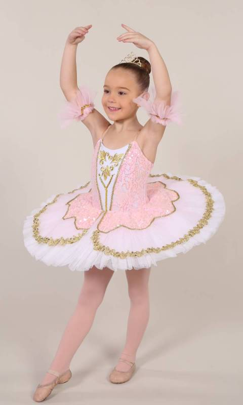 TILLEEYA - tutu - White Pale Pink and gold