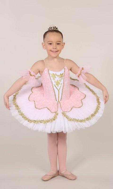 TILLEEYA - tutu - White Pale Pink and gold