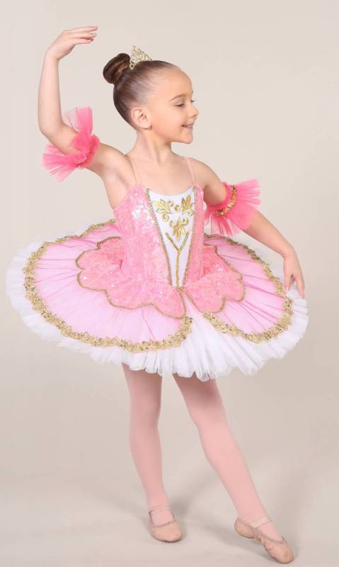 TILLEEYA - tutu - White Rose Pink and gold