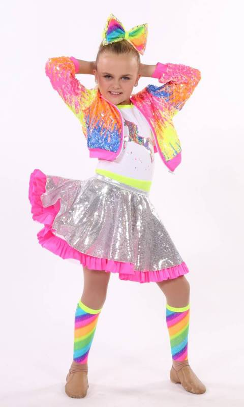 Candy Store costume - featuring the sequin spandex skirt