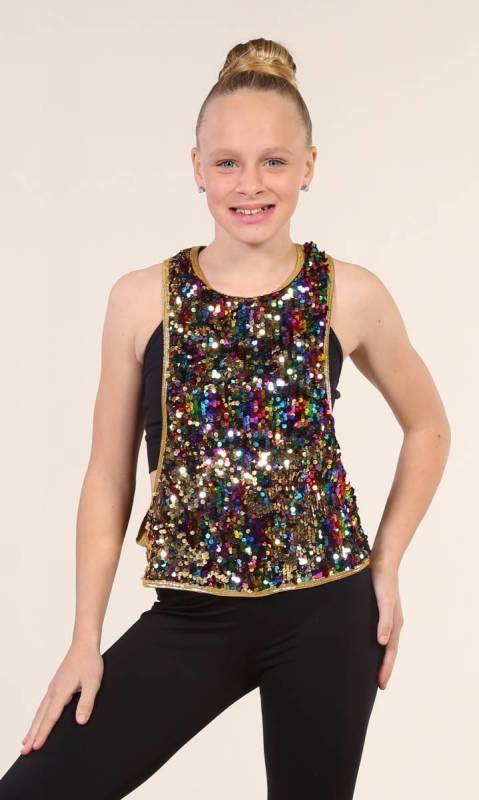 CHANGING COLOUR TANK Dance Costume