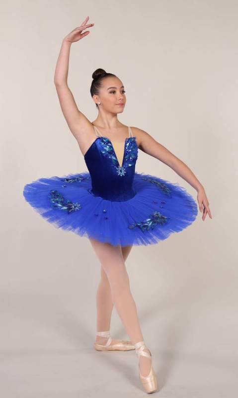 NATALIA - PANCAKE TUTU  - ROYAL BLUE