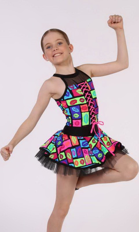 MARLY - LIP PRINT  LACE UP Dance Costume