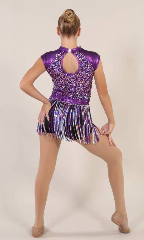 SHIMMY SHAKE  - Purple black and silver