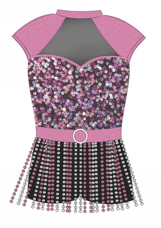 SHIMMY SHAKE  - Pink black and silver
