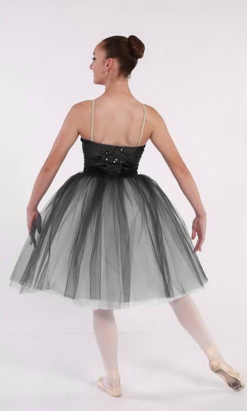 MESMERISE - romantic tutu - BLACK  Velvet and sequin with multi tone tulle