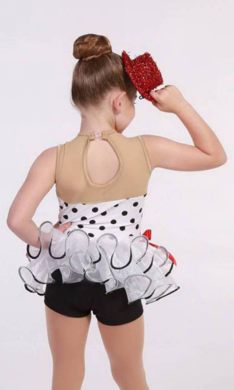 White with Black polka dots 090