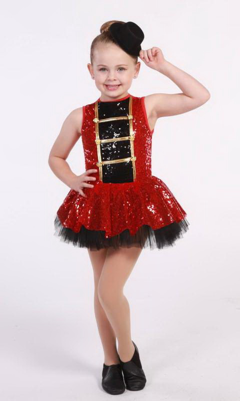 ON PARADE - red and black with gold trim 547
