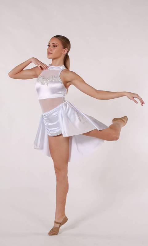 PERFECT  - White Satin with white applique