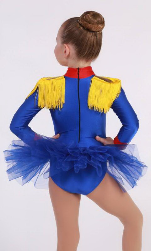 SOLDIER GIRL - HAT SOLD SEPARATELY - Royal Blue,  White and yellow