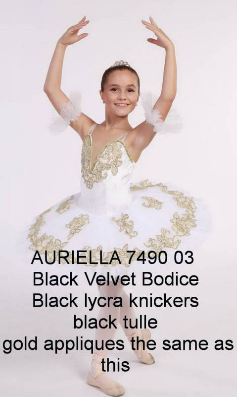 AURIELLA - PANCAKE TUTU  - Black