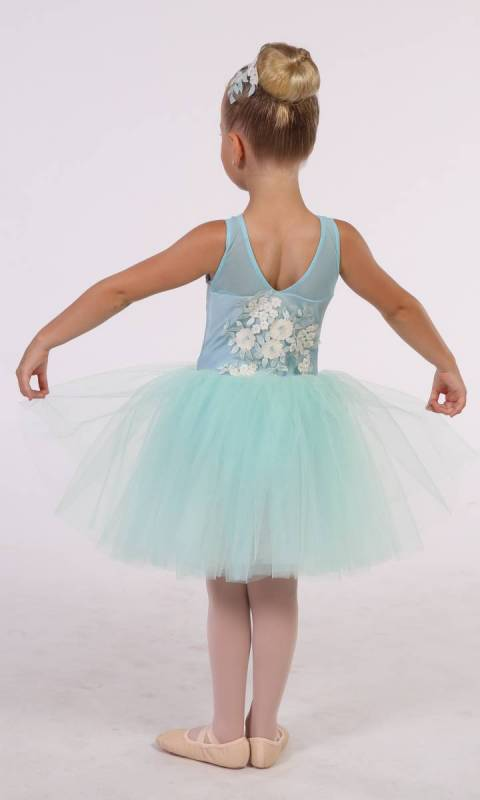 FLOWER GIRL - ROMANTIC TUTU + hair accessory - Mint and Cream