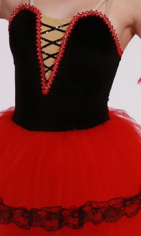 CARMEN - SPANISH ROMANTIC TUTU  - Red and Black