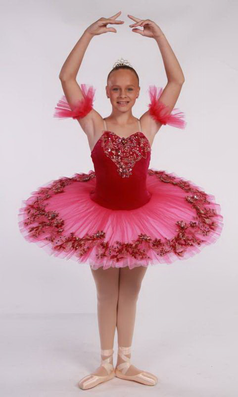 MELISSA PANCAKE TUTU  - Pink and White