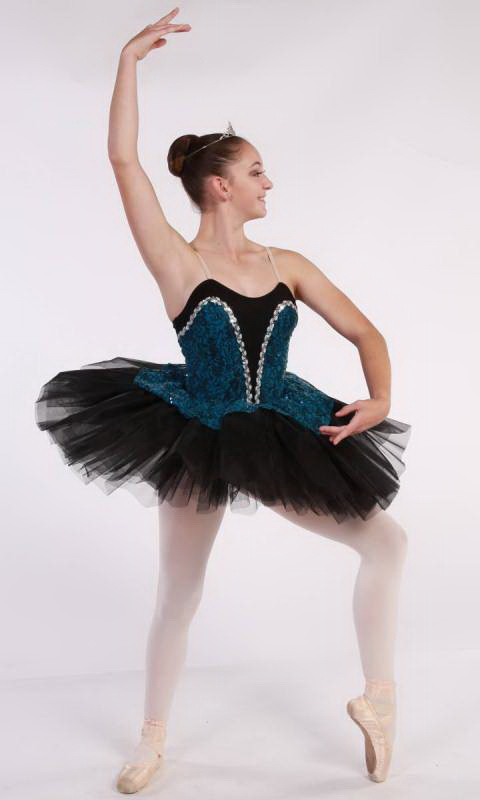 ROCHELLE - budget tutu  - Black and Teal