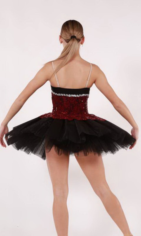 ROCHELLE - budget tutu  - Black and Burgundy