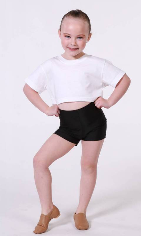 CROP HYBRID T SHIRT Dance Costume