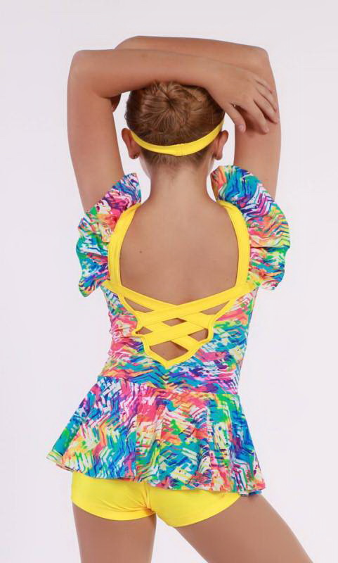 FUN VIBE  - Neon Tracks lycra and yellow