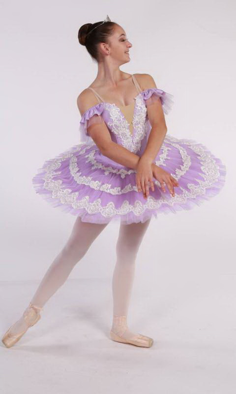 FRENCH LACE - Pancake tutu  Dance Costume
