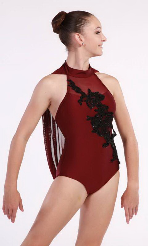 ANNALYSE - applique leotard  Dance Costume