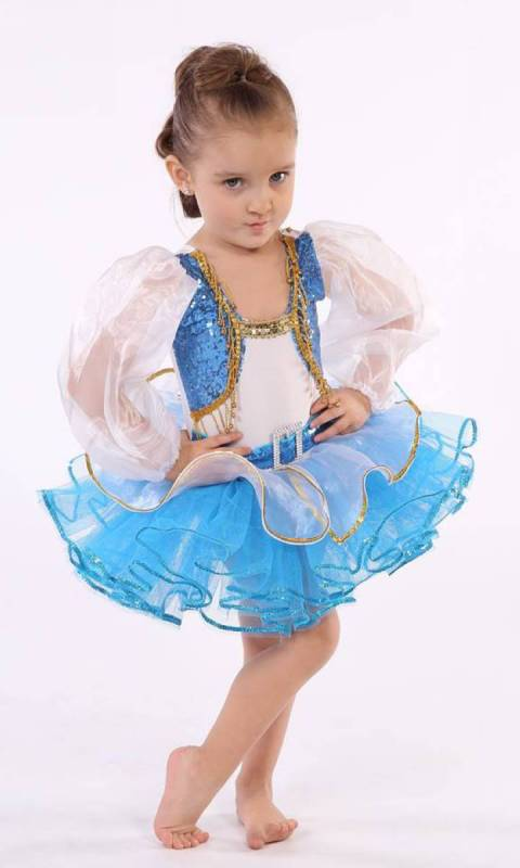 PRINCESS ALIYA  - Aqua and white