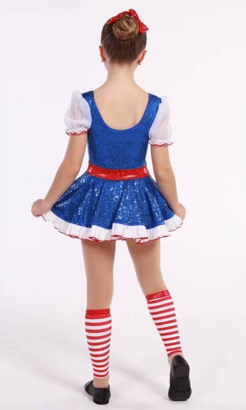 RAG DOLL Anne  - Royal Blue and White