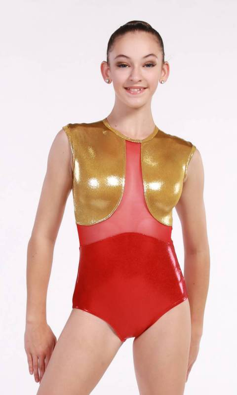 SULTAN - leotard  - Red and Gold