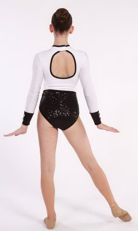 LIZA - LEOTARD  - Black and White