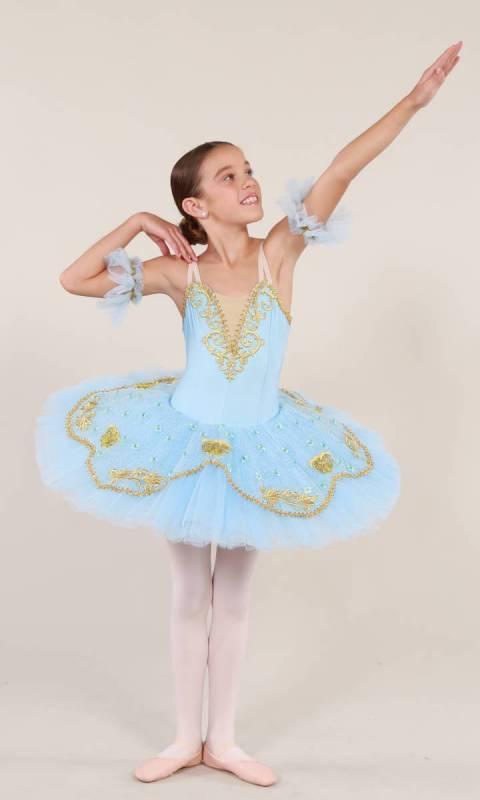 MIRANDA - Pancake tutu  - Ballet Blue and gold