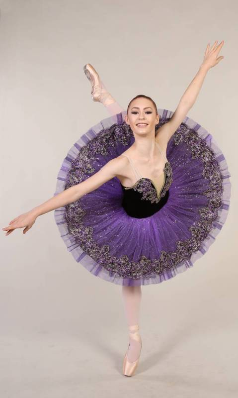 MARGOT - Pancake tutu  - Black and Purple