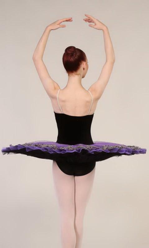 MARGOT - Pancake tutu  - Black and Purple