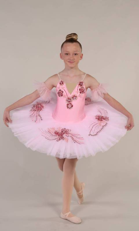SARINA - Pancake tutu  - Pink and darker pink with gold