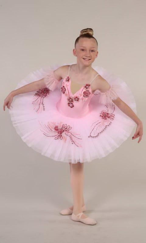 SARINA - Pancake tutu  - Pink and darker pink with gold