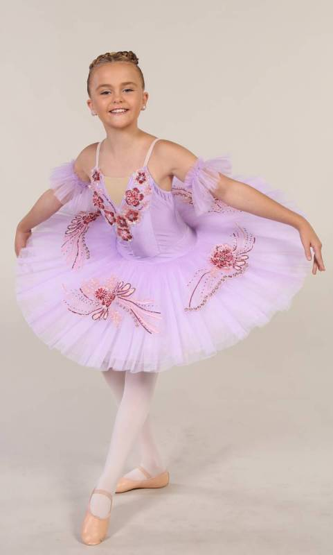 SARINA - Pancake tutu  - Lilac with dark pink and gold