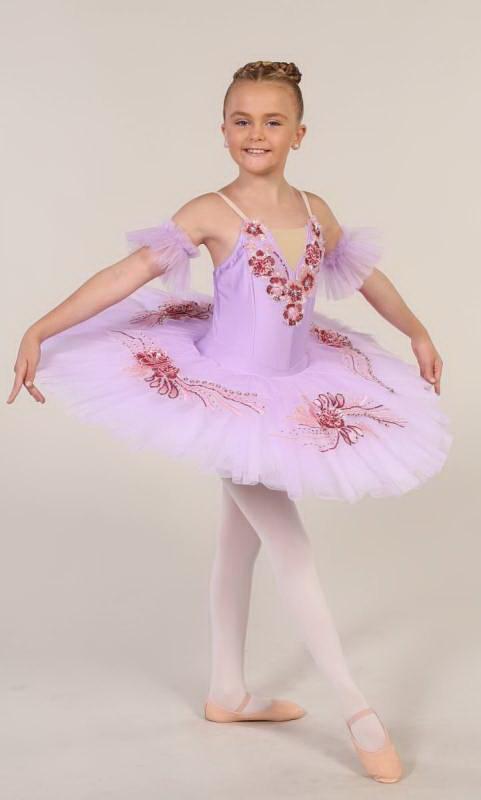 SARINA - Pancake tutu  - Lilac with dark pink and gold