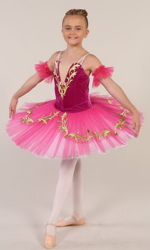 PRINCESS JASMINE - Pancake tutu  - Bright Pink Gold and white