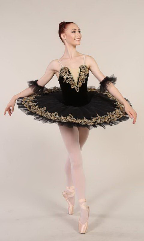 ADRIENNE - Pancake tutu  - Black and gold